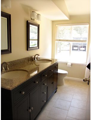 View of upstairs (non master) Bathroom
