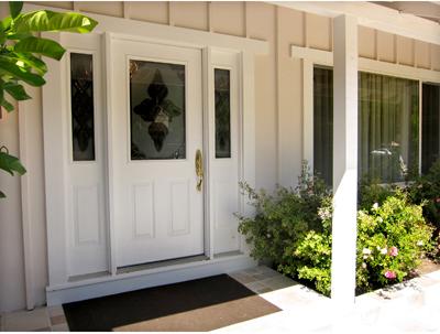 entrance to Novato, California vacation rental house